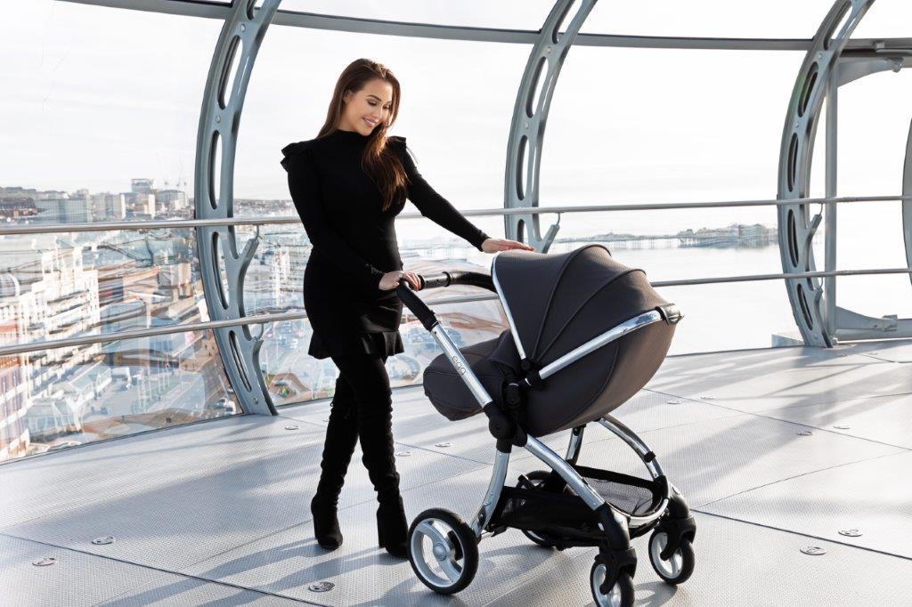 Bambinista-EGG-Travel-Egg Stroller Special Edition Package - Anthracite (with Backpack / Changing Bag)
