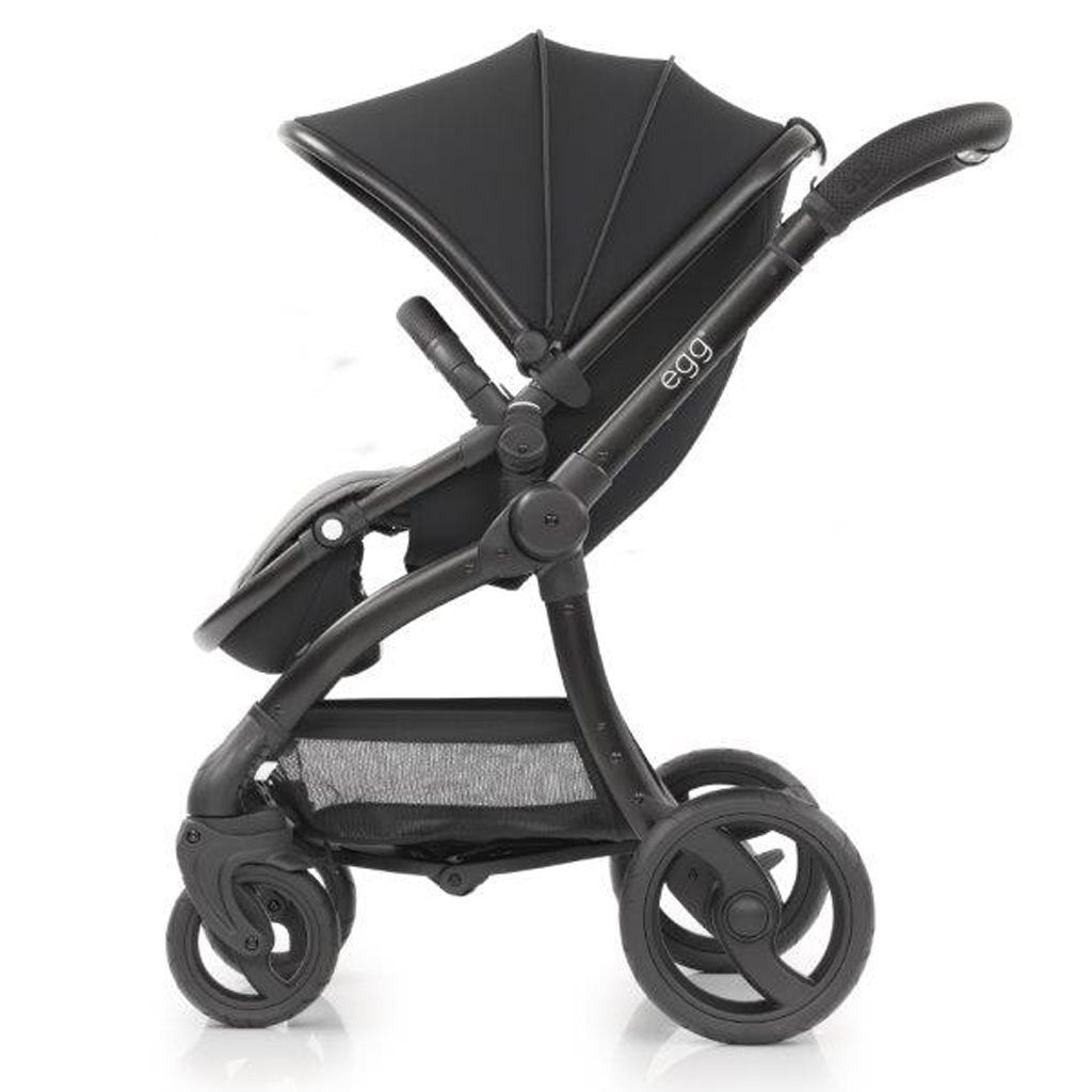 Bambinista-EGG-Travel-Egg Stroller Special Edition Package - Just Black (with Backpack)