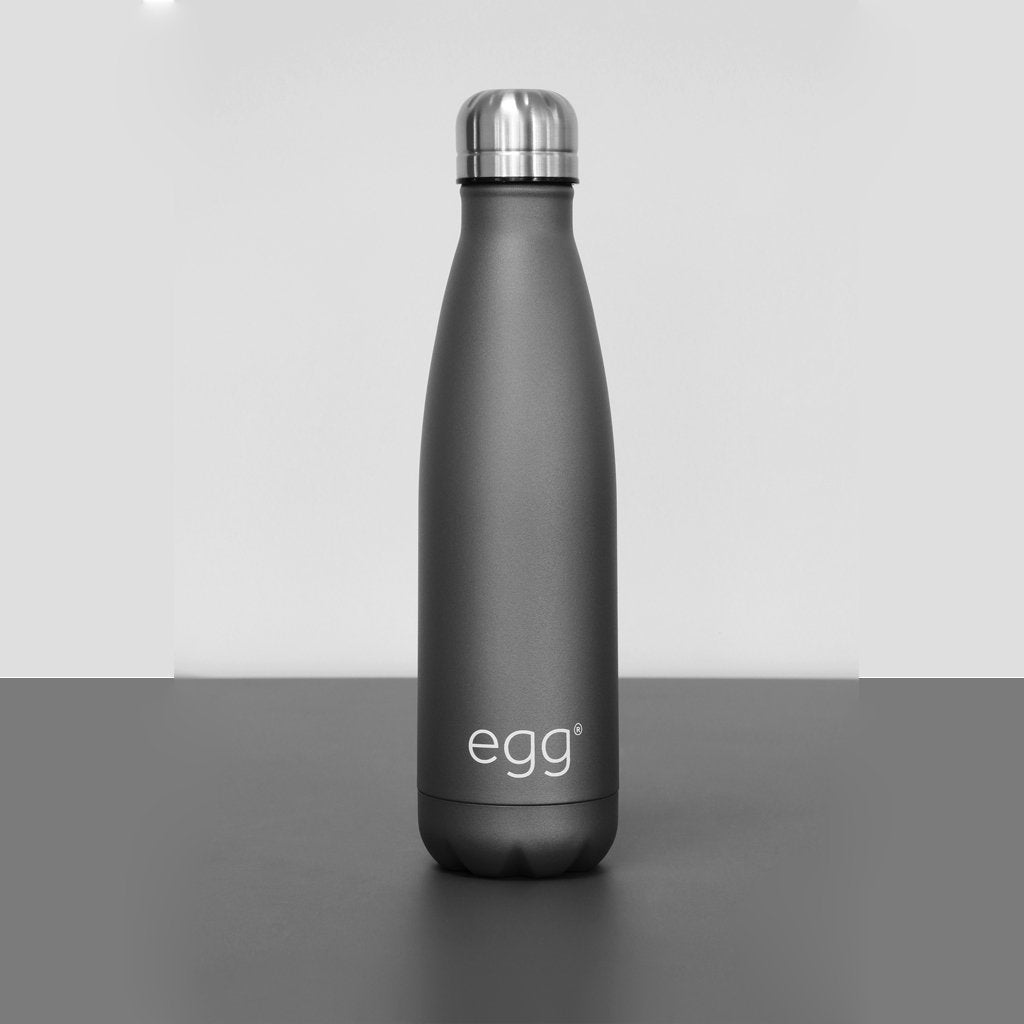 Bambinista-EGG-Travel-Egg Water Bottle - Matte Grey