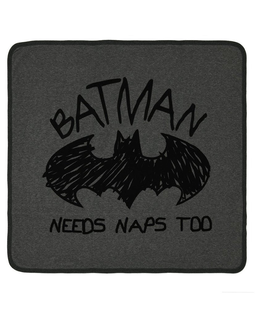 Bambinista-FABRIC FLAVOURS-Blankets-Batman Needs Naps Too Blanket