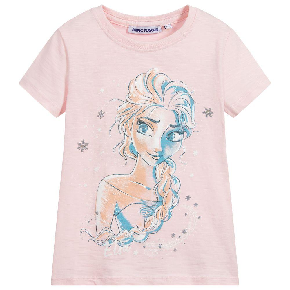 Bambinista-FABRIC FLAVOURS-Tops-Frozen 2 Tee Elsa Face Pink