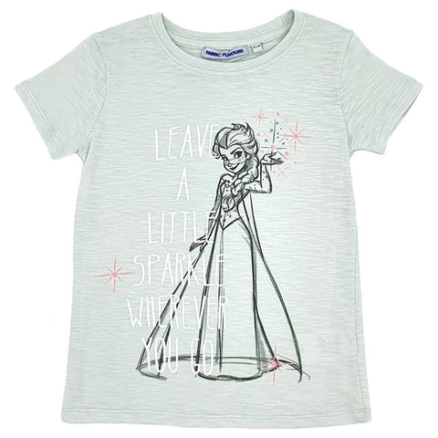 Bambinista-FABRIC FLAVOURS-Tops-Frozen 2 Tee Elsa Leave a Little Sparkle Mint