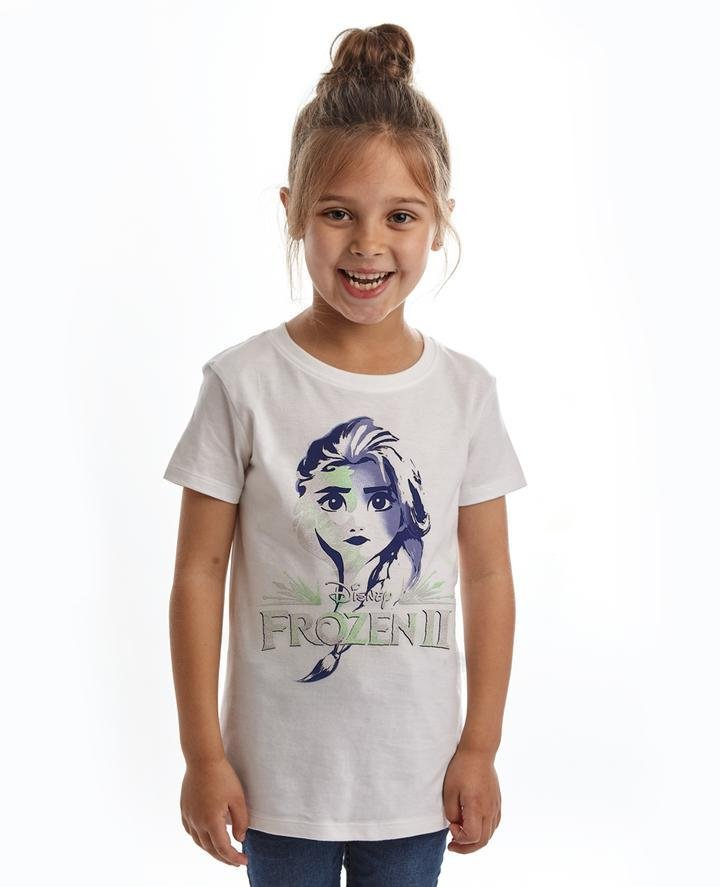 Bambinista-FABRIC FLAVOURS-Tops-Frozen 2 Tee Elsa Sparkle Face White