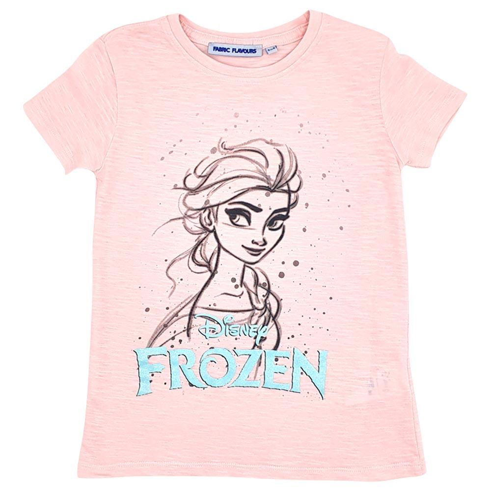 Bambinista-FABRIC FLAVOURS-Tops-Frozen 2 Tee Elsa Sparkle Logo Pink