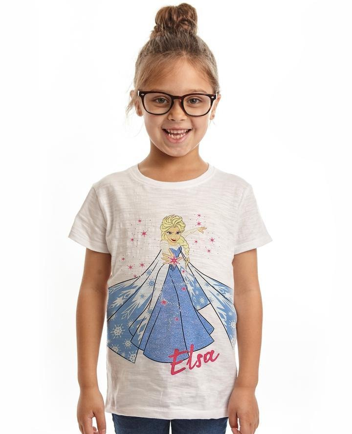Bambinista-FABRIC FLAVOURS-Tops-Frozen 2 Tee Elsa White