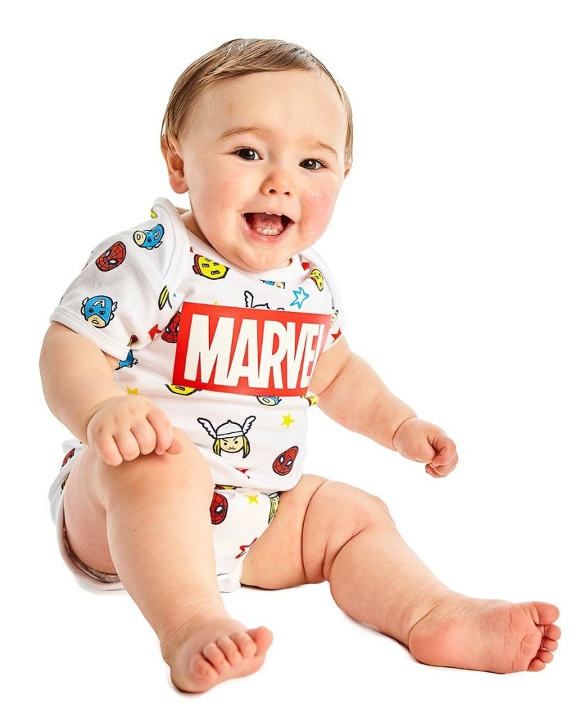 Bambinista-FABRIC FLAVOURS-Onesies-Marvel Comics Babygrow