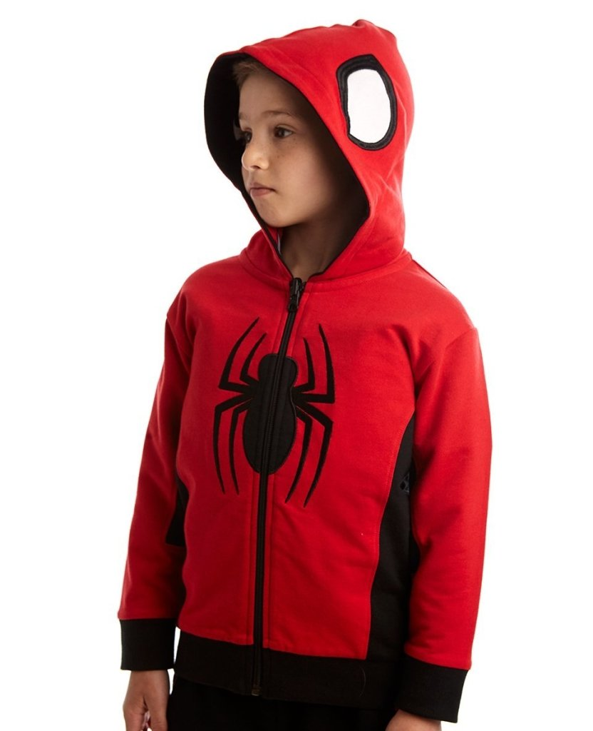 Bambinista-FABRIC FLAVOURS-Tops-Spider-Man Hero or Villain Reversible Hoodie