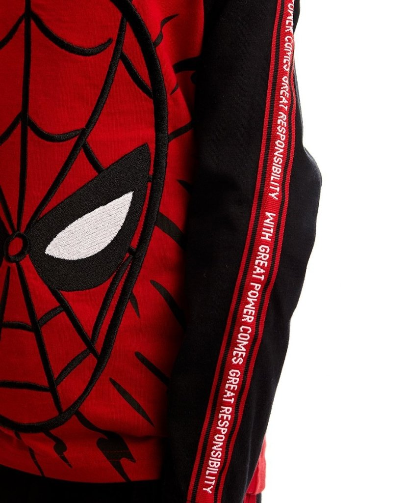 Bambinista-FABRIC FLAVOURS-Tops-Spider-Man Raglan Long Sleeve Tee
