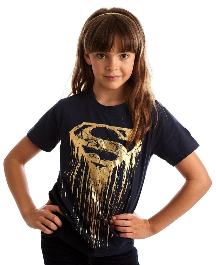 Bambinista-FABRIC FLAVOURS-Tops-Superman Foil Logo Tee