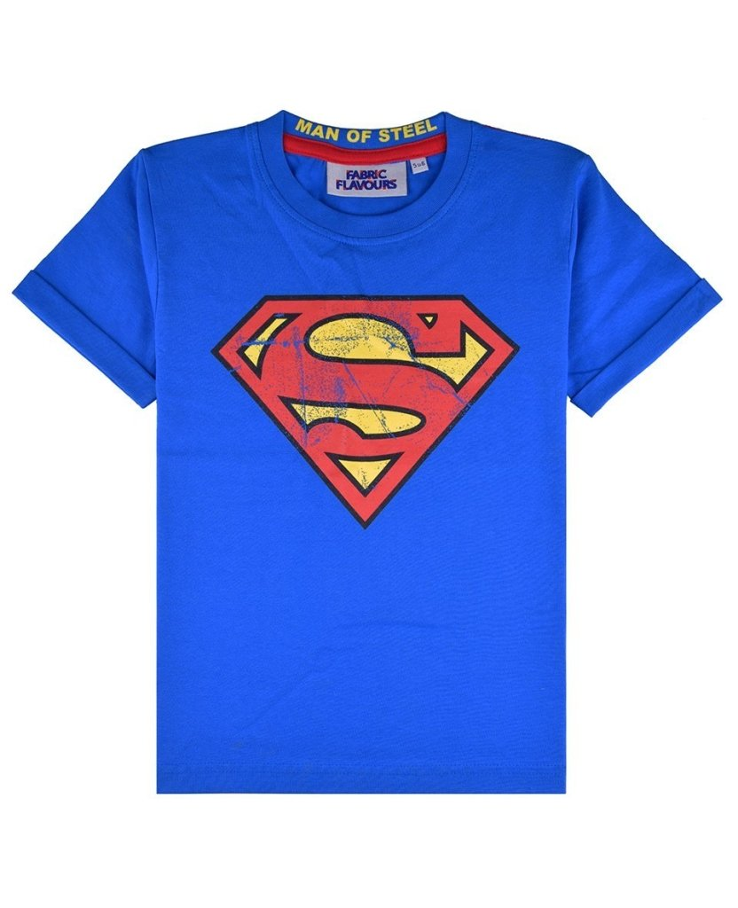 Bambinista-FABRIC FLAVOURS-Tops-Superman Logo Vintage Wash Tee
