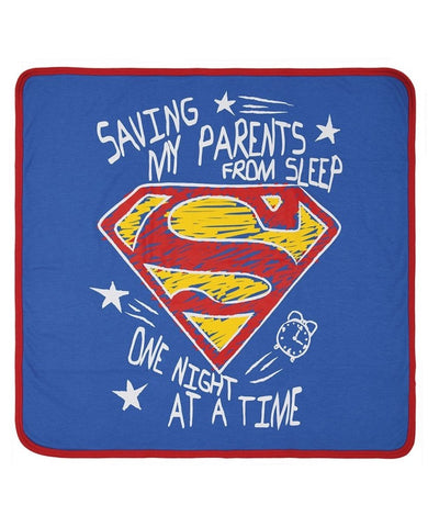 Bambinista-FABRIC FLAVOURS-Blankets-Superman Saving Parents From Sleep Blanket