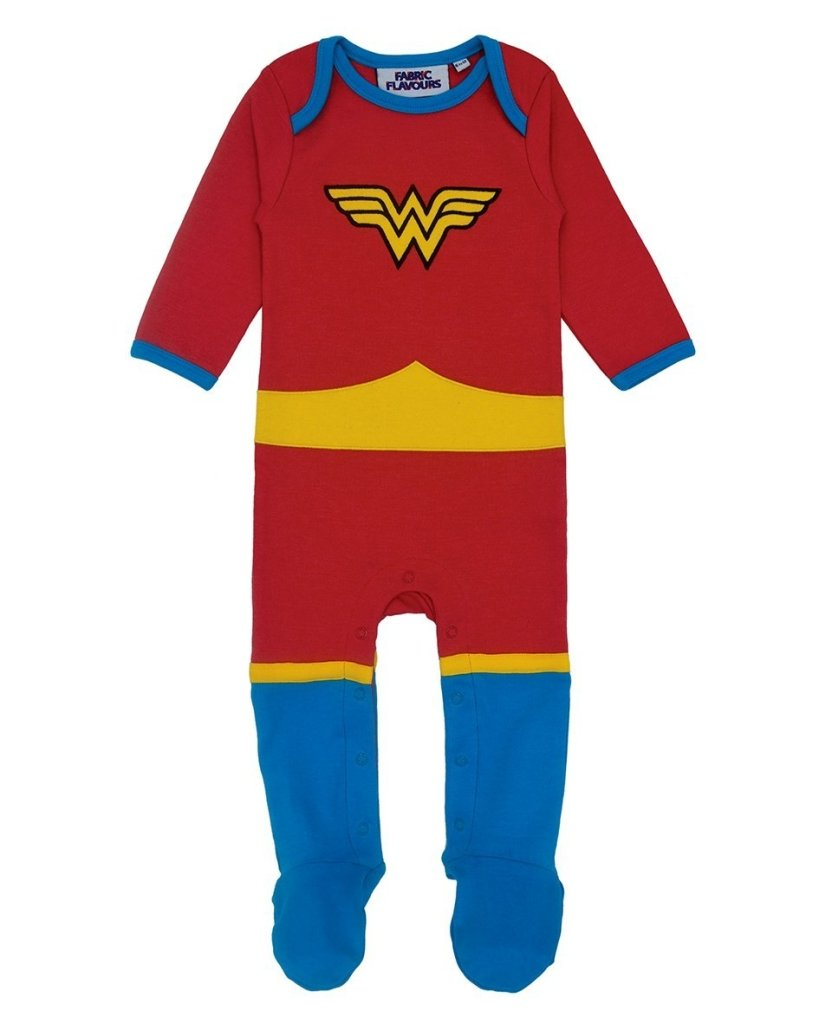 Bambinista-FABRIC FLAVOURS-Rompers-Wonder Woman All In One