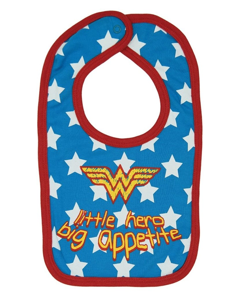 Bambinista-FABRIC FLAVOURS-Accessories-Wonder Woman Little Hero Big Appetite Bib