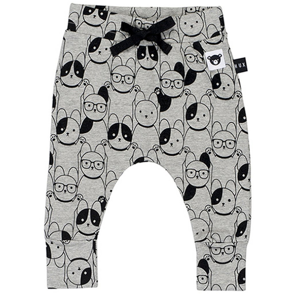 Bambinista-HUXBABY-Bottoms-Puppy Love Drop Crotch Pants