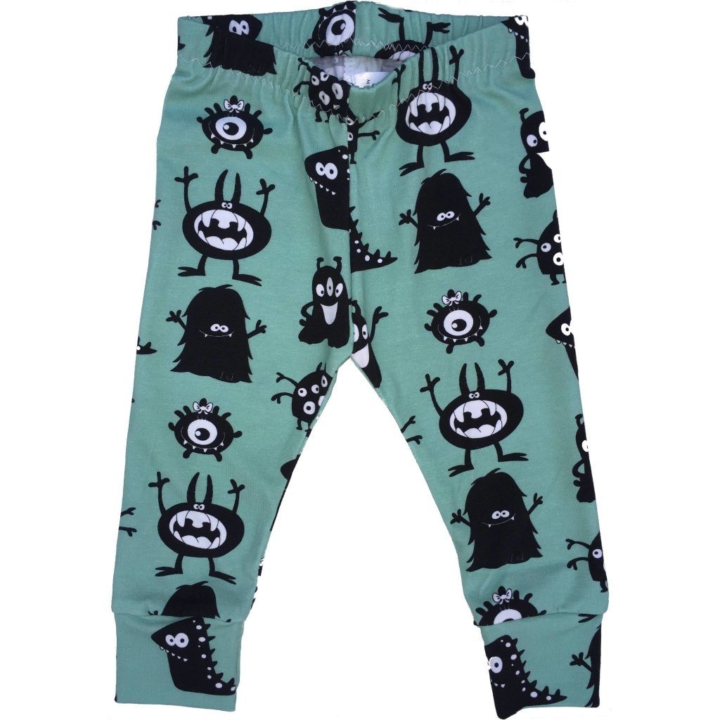 Bambinista-LOTTIE & LYSH-Bottoms-Leggings Minted Monster Print