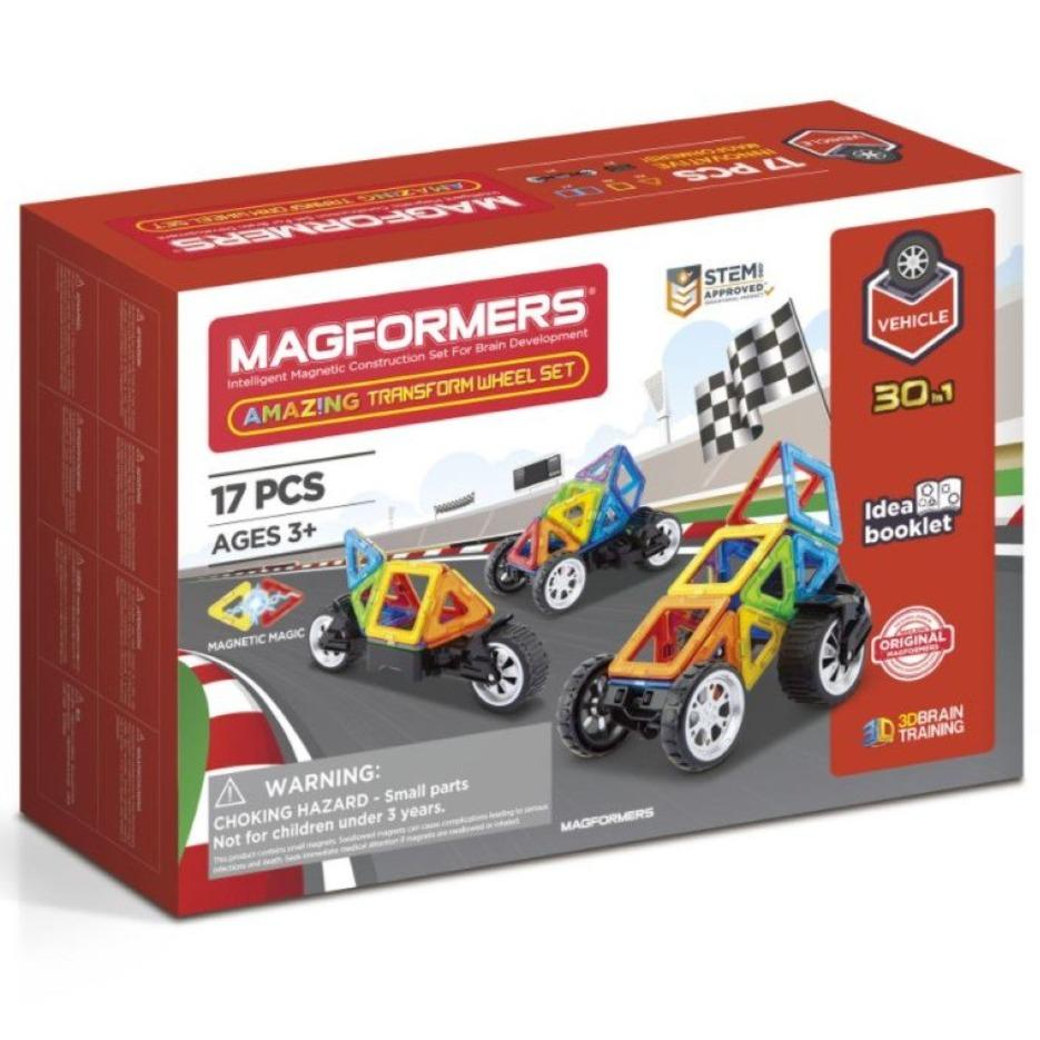 Bambinista-MAGFORMERS-Toys-Magformers Amazing Transform Wheel Set 17 pieces