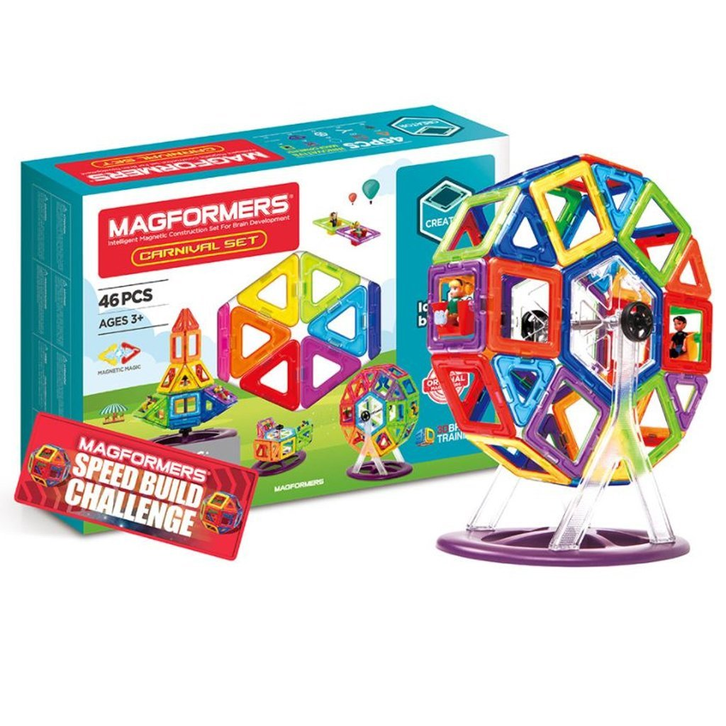Bambinista-MAGFORMERS-Toys-Magformers Carnival Set 46 pieces
