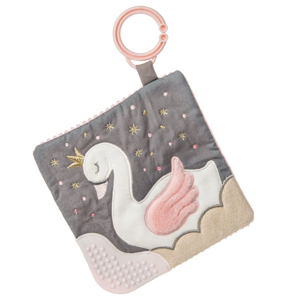 Bambinista-MARY MEYER-Toys-Itsy Glitzy Swan Crinkle Teether