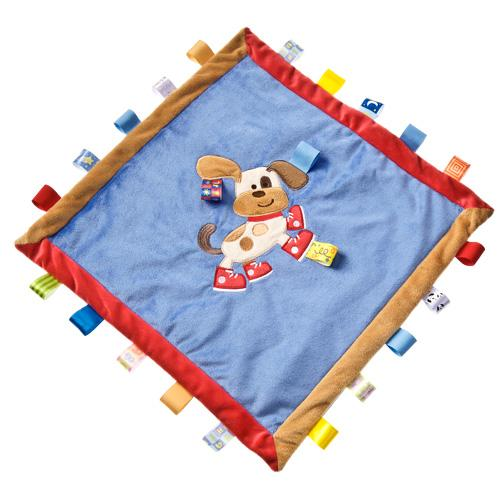 Bambinista-MARY MEYER-Toys-Taggies Buddy Dog Cozy Blanket - 16x16""