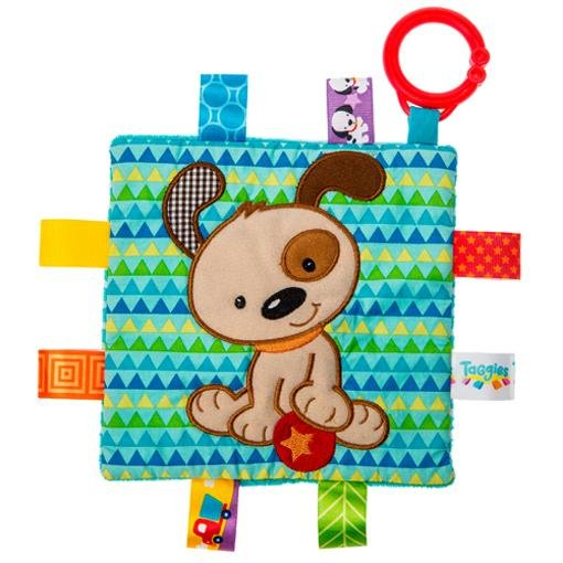 "Bambinista-MARY MEYER-Toys-Taggies Crinkle Me Brother Puppy - 6"" x 6"""