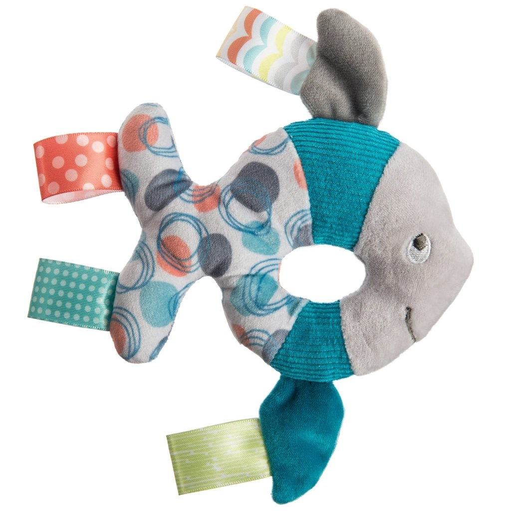 Bambinista-MARY MEYER-Toys-Taggies Sleepy Seas Rattle – 6″