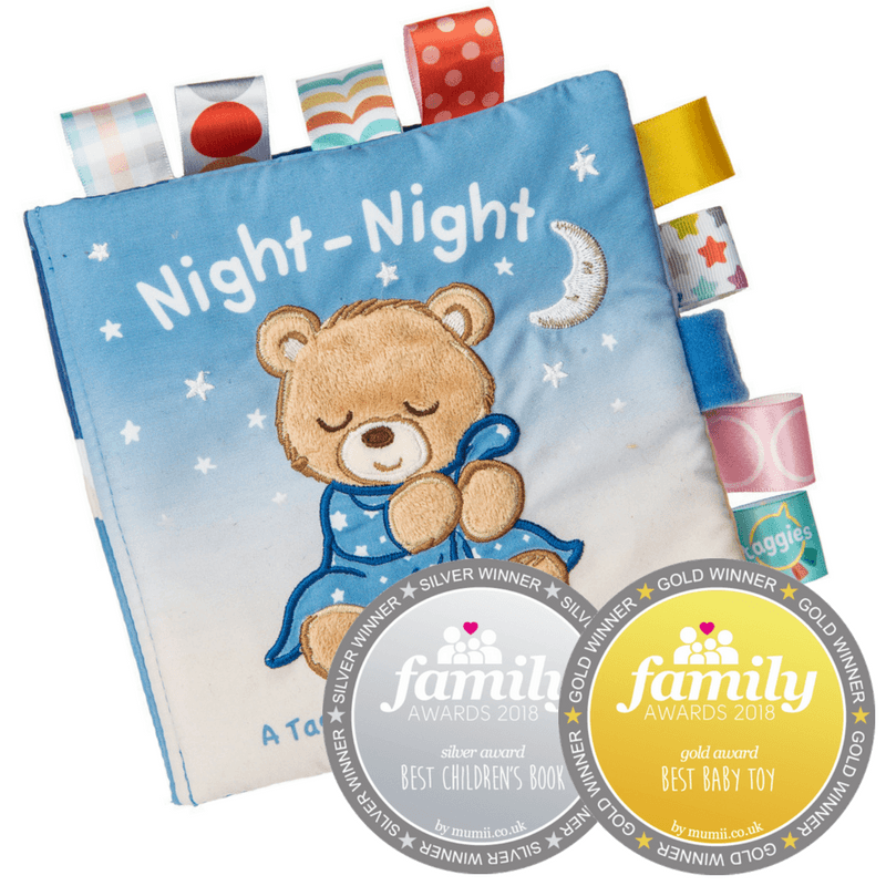 Bambinista-MARY MEYER-Toys-Taggies Starry Night Teddy Soft Book