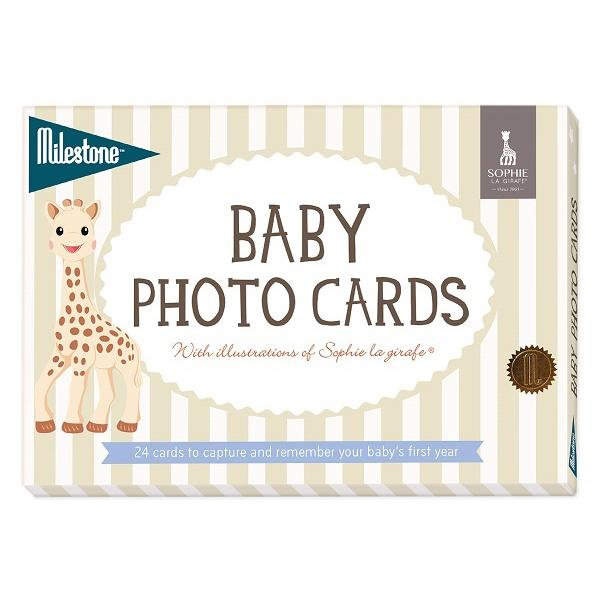 Bambinista-MILESTONE-Gifts-Baby Photo Cards Sophie the Giraffe