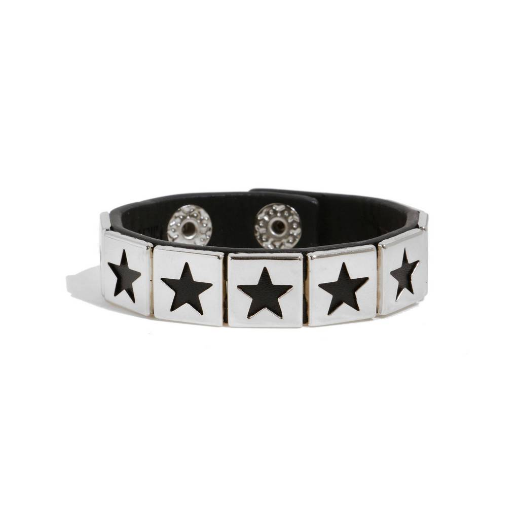 Bambinista-MINIMAN-Accessories-Toddler / Kids Leather Bangle Mini Star Plate