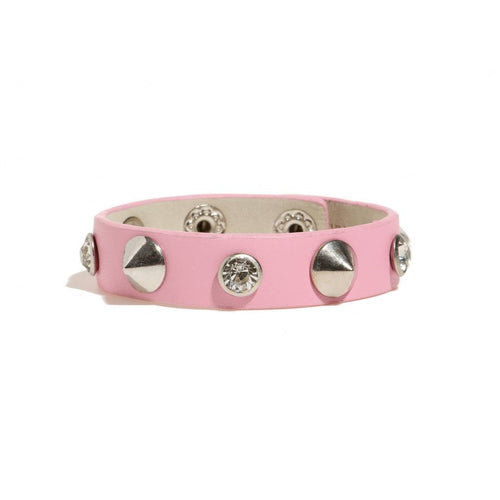 BAMBINISTA - MINIMAN - Accessories - Toddler / Kids Leather Bangle Mini Punk Pink