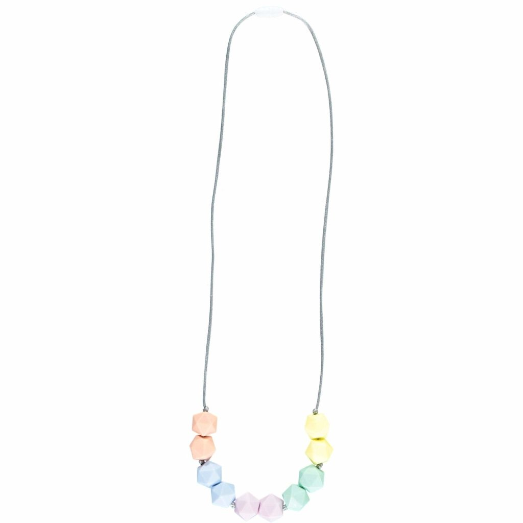 Bambinista-NIBBLING LONDON-Accessories-Teething Necklace Kensington Sorbet