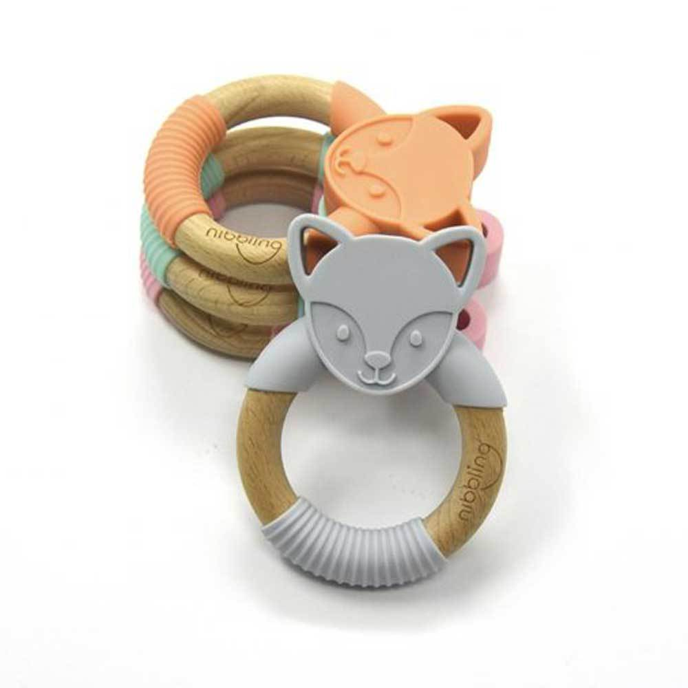 Bambinista-NIBBLING LONDON-Accessories-Teething Ring Flex Fox Blue
