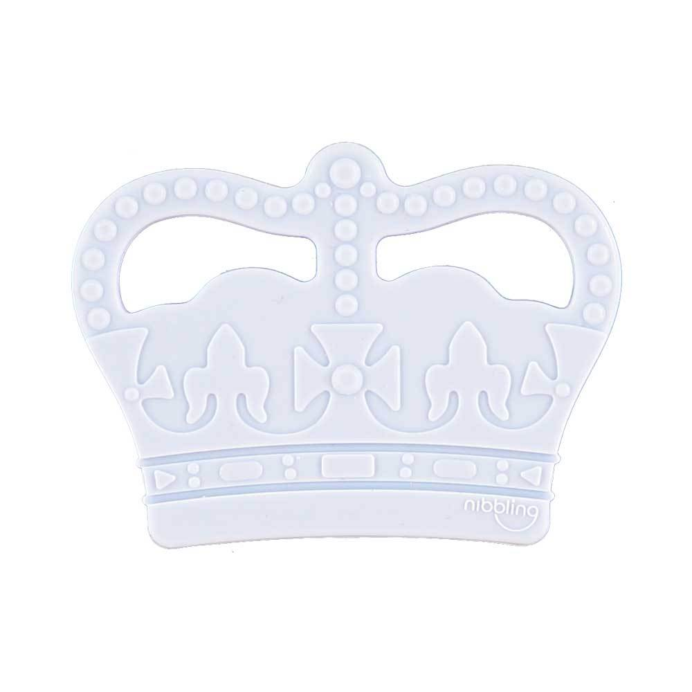 Bambinista-NIBBLING LONDON-Accessories-Teething Toy Crown Blue