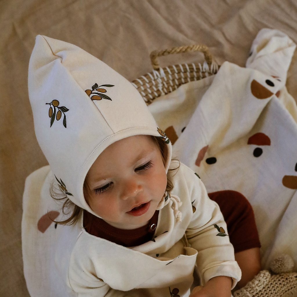 Bambinista-ORGANIC ZOO-Accessories-Bonnet Olive Garden