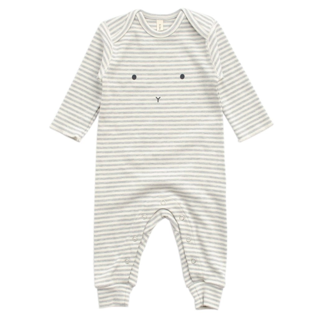 Bambinista-ORGANIC ZOO-Rompers-Playsuit Bunny Stripy
