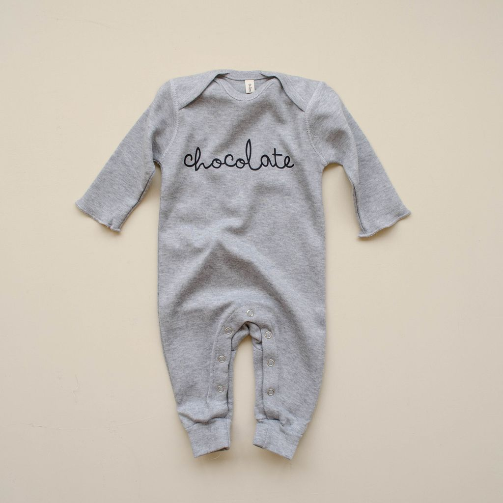 Bambinista-ORGANIC ZOO-Rompers-Playsuit Chocolate Grey