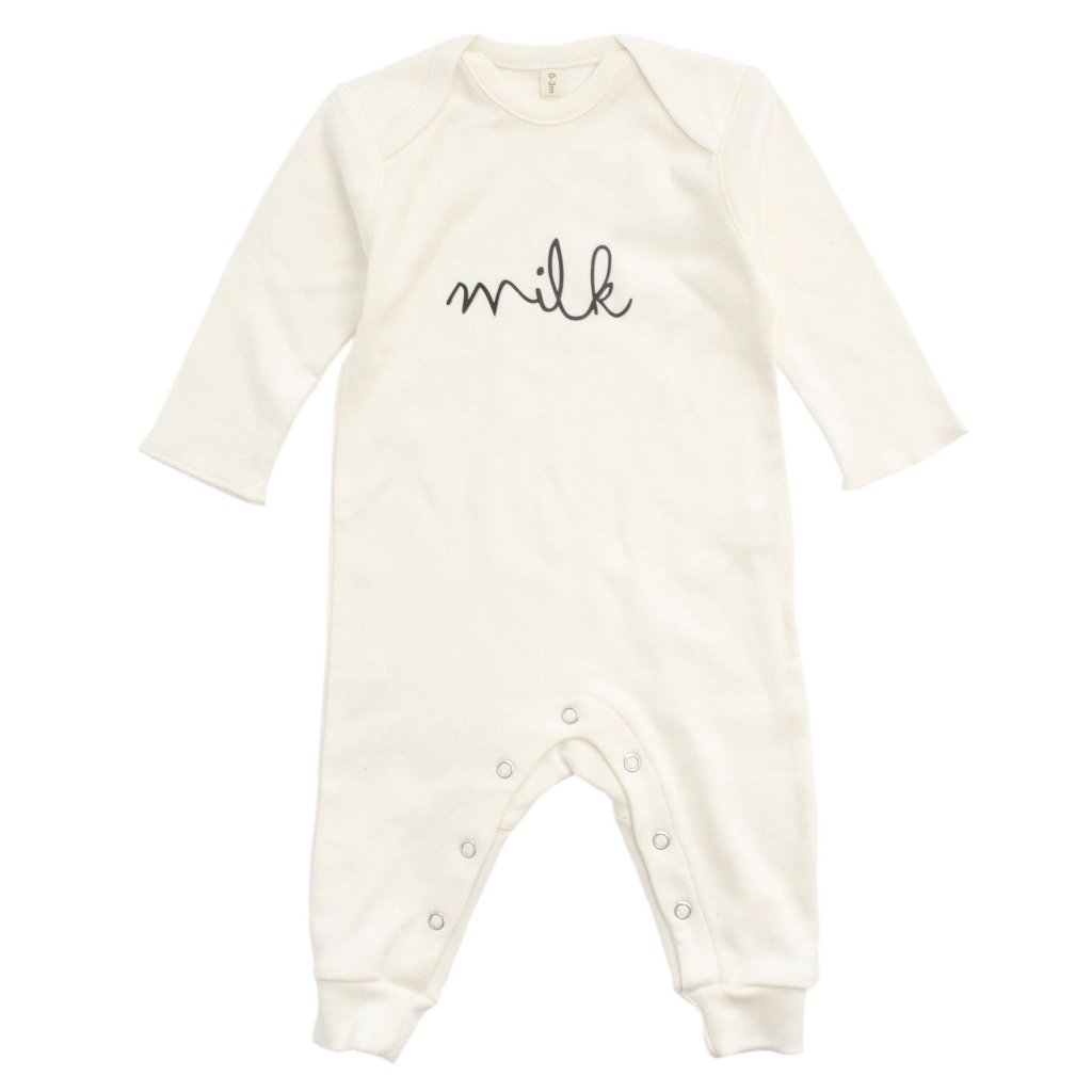 Bambinista-ORGANIC ZOO-Rompers-Playsuit Milk Natural