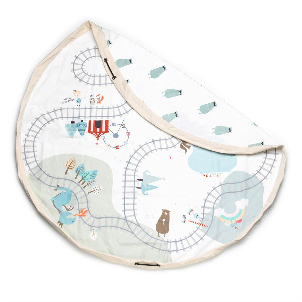 Bambinista-PLAY & GO-Toys-Play Mat / Storage Bag - Fantasy Train Map / Happy Bears
