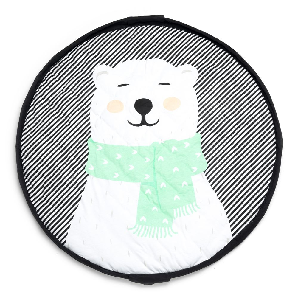 Bambinista-PLAY & GO-Toys-Play Mat / Storage Bag Soft - Polar Bear