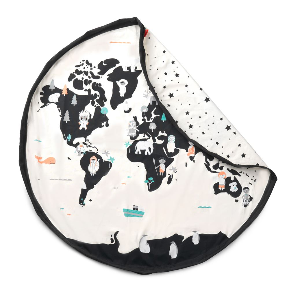 Bambinista-PLAY & GO-Toys-Play Mat / Storage Bag - World Map / Stars
