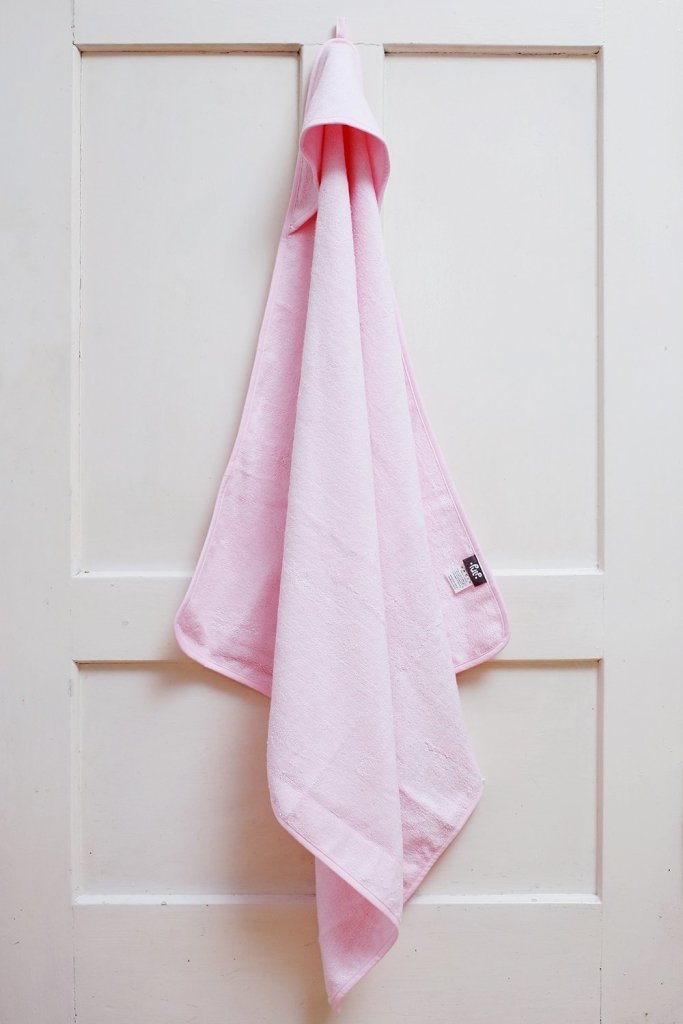 Bambinista-PULP-Towels-Bamboo Hooded Towel Pink