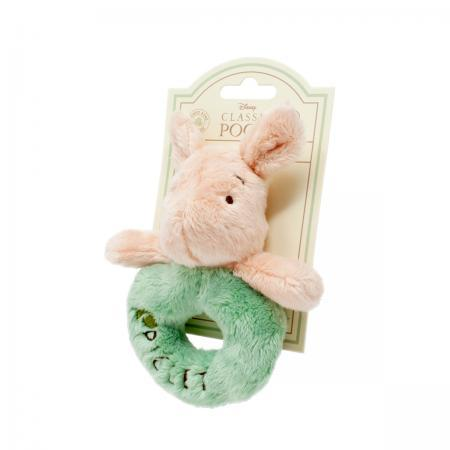 Bambinista-RAINBOW DESIGNS-Toys-Hundred Acre Wood Piglet Ring Rattle