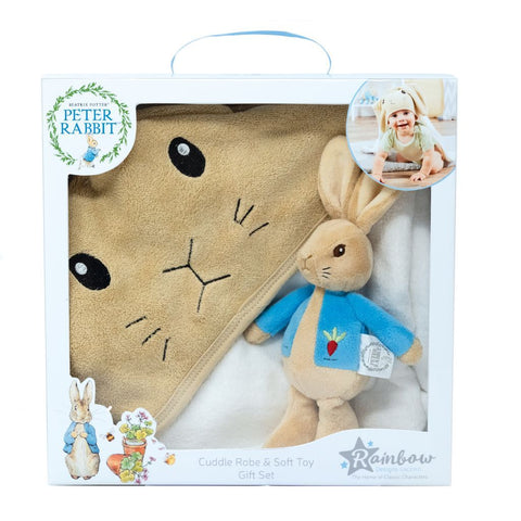 Bambinista-RAINBOW DESIGNS-Toys-PETER RABBIT Cuddle Robe Set