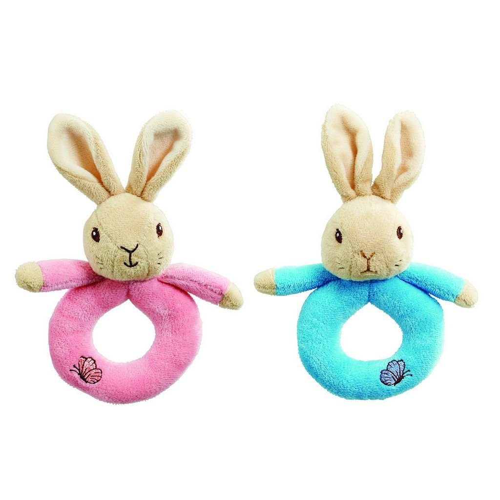 Bambinista-RAINBOW DESIGNS-Toys-PETER RABBIT Peter/Flopsy Ring Rattles