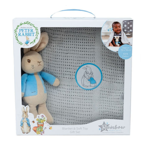 Bambinista-RAINBOW DESIGNS-Toys-PETER RABBIT Toy & Blanket Set