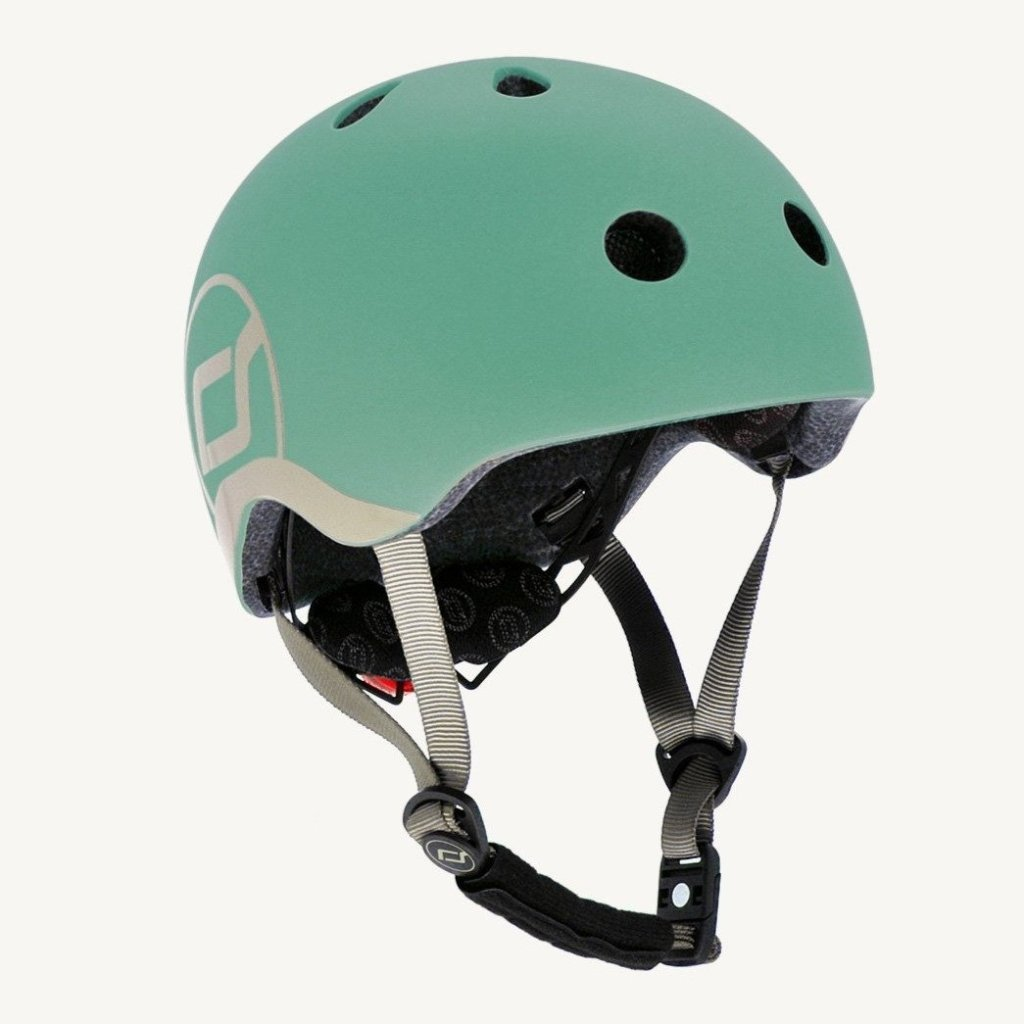 Bambinista-SCOOT AND RIDE-Toys-Highway Helmet Forest XS/S (Age 1-3 Years)