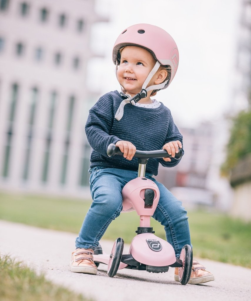 Bambinista-SCOOT AND RIDE-Toys-Highway Helmet Rose XS/S (Age 1-3 Years)