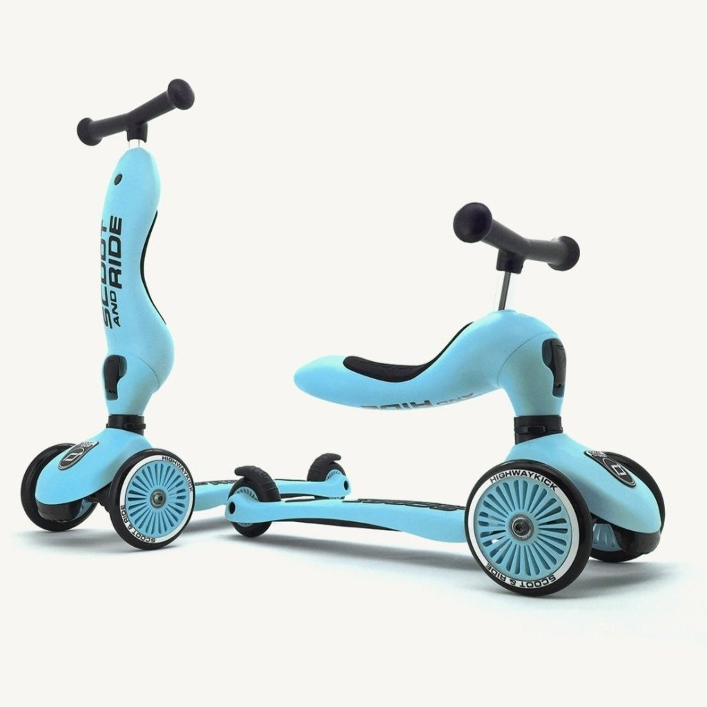 Bambinista-SCOOT AND RIDE-Toys-Highway Kick 1 Blueberry