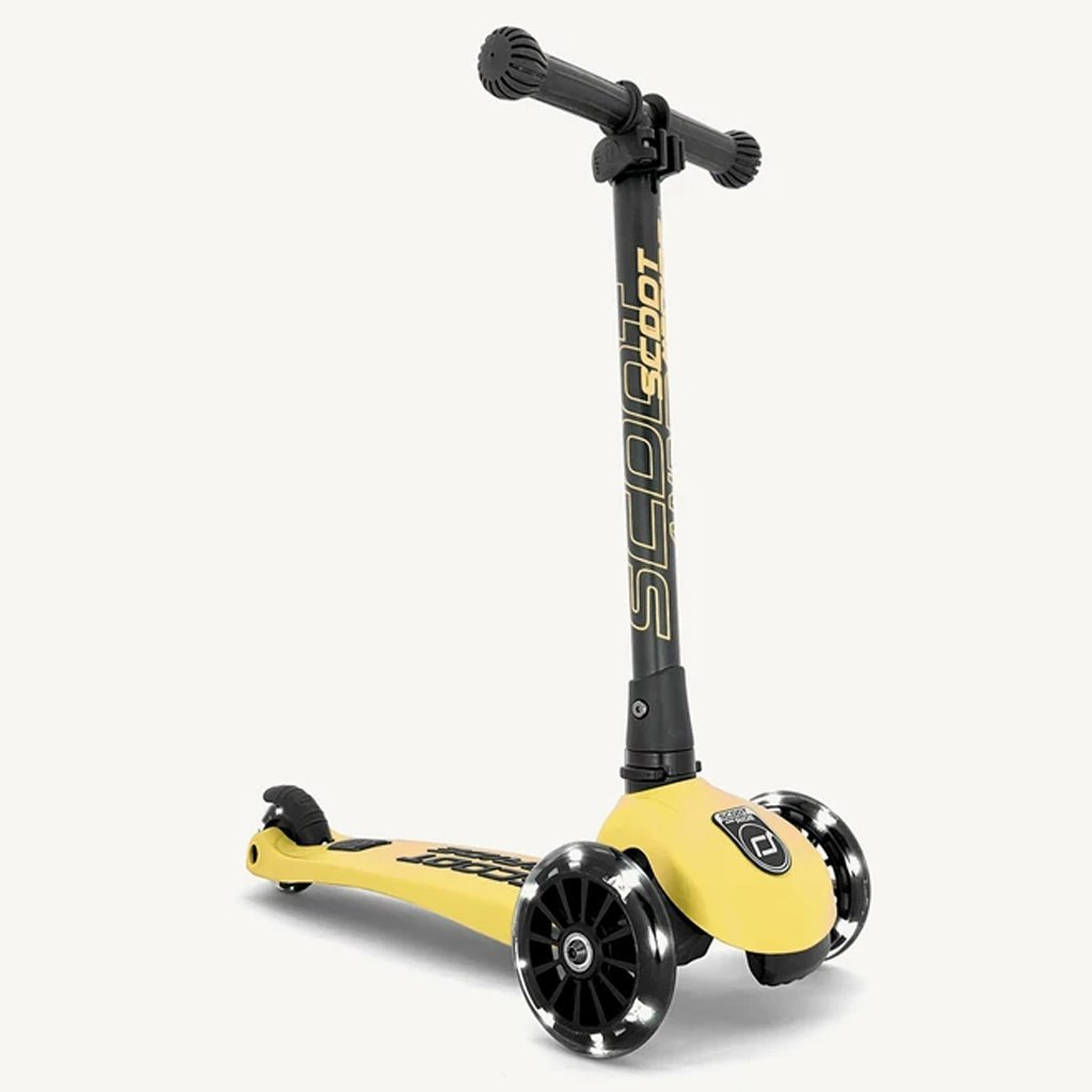 Bambinista-SCOOT AND RIDE-Toys-Highway Kick 3 LED - Lemon