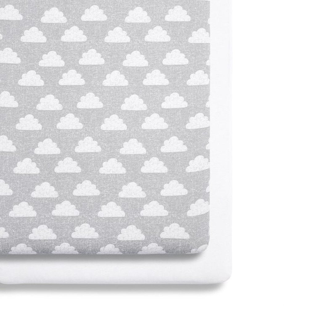 Bambinista-SNUZ-Bedding-Snuz 2 Pack Crib Fitted Sheets - Cloud Nine