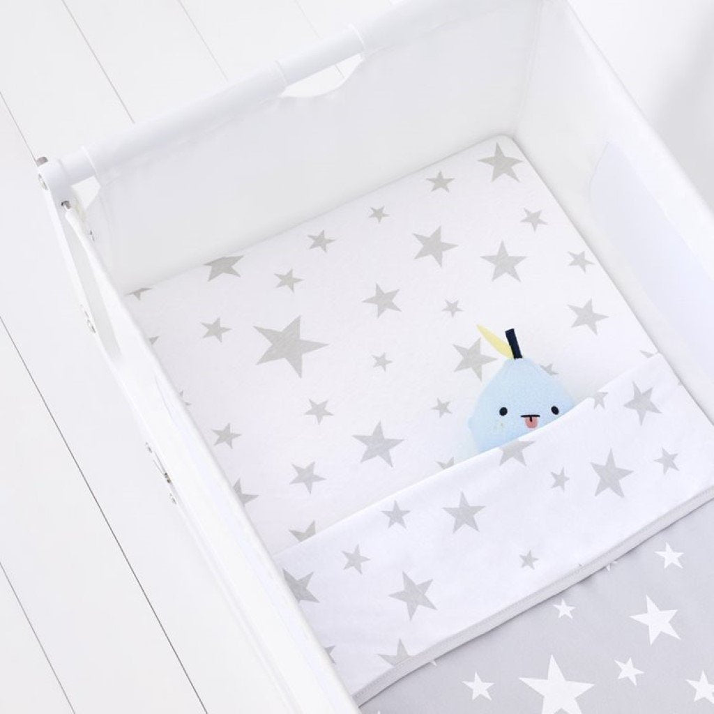 Bambinista-SNUZ-Bedding-Snuz 2 Pack Crib Fitted Sheets - Star